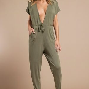 TOBI | NWT THIS IS IT OLIVE Green Pants JUMPSUIT